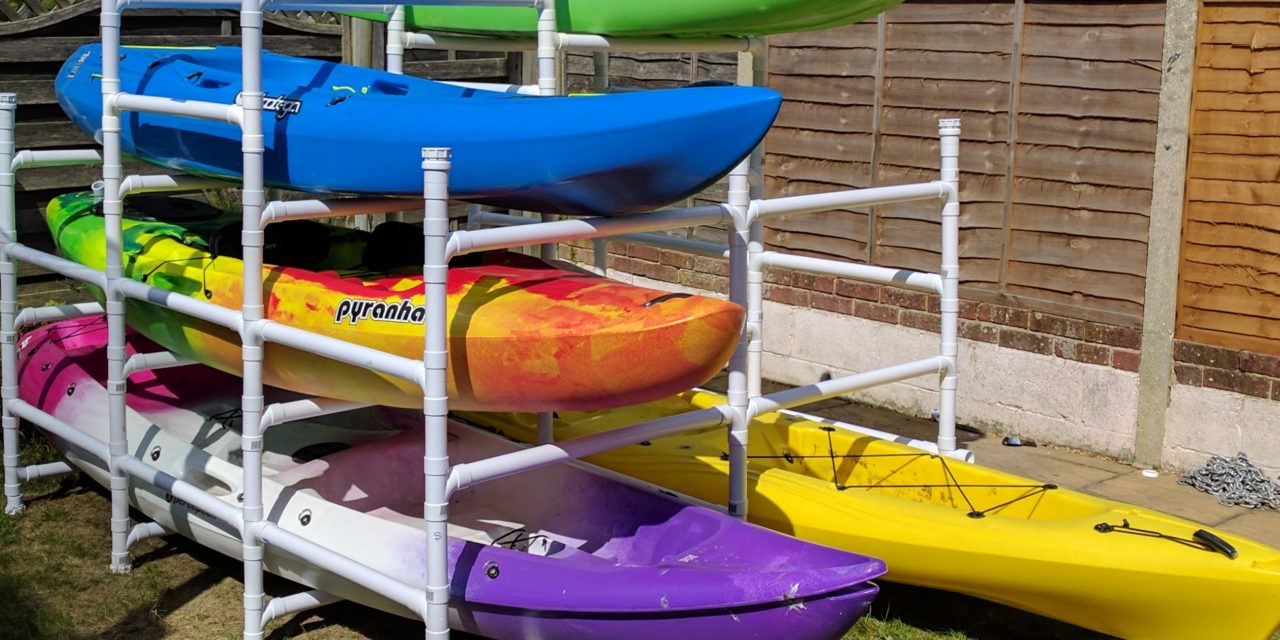 DIY kayak storage : ABS pipe kayak rack