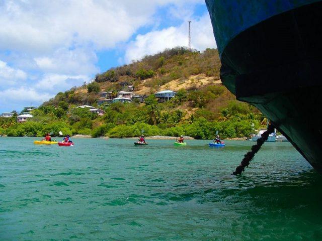 Open water kayak safety