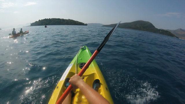 kayaking Greek style