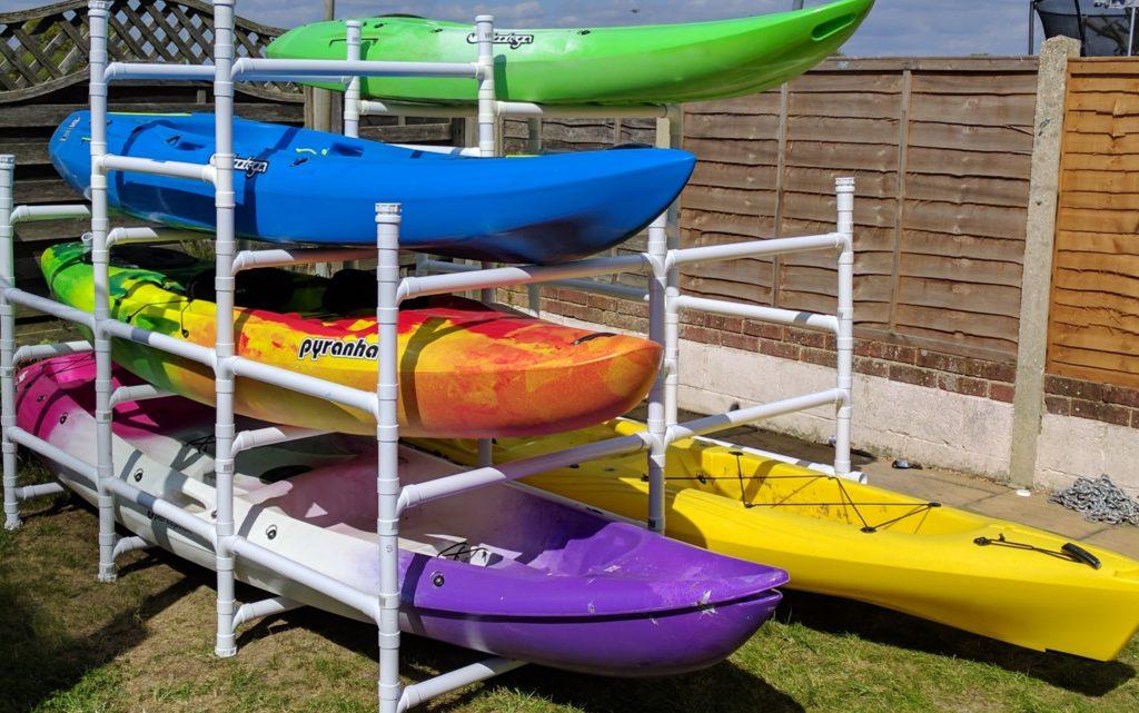 Diy Kayak Rack >> Diy Kayak Storage Abs Pipe Kayak Rack Sitons