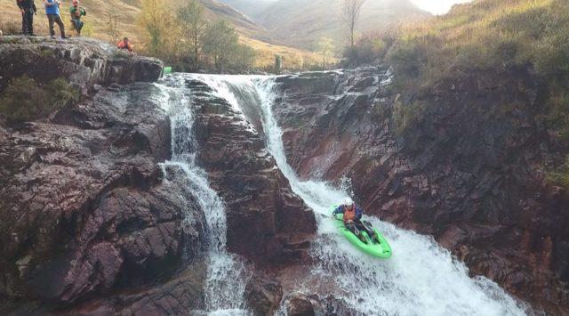 Sit on kayak white water paddling
