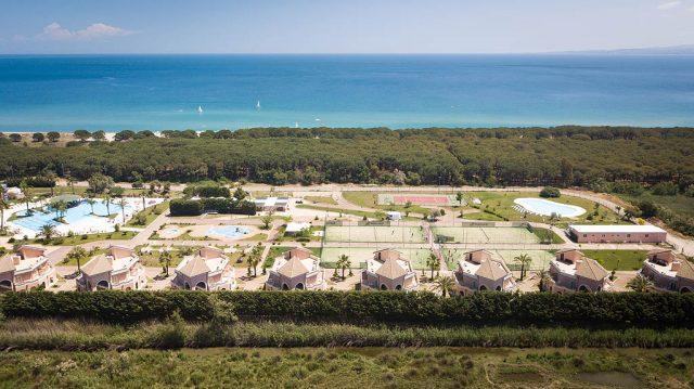 Airone Beachclub Aerial